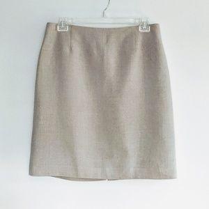 Rafaella linen lined skirt